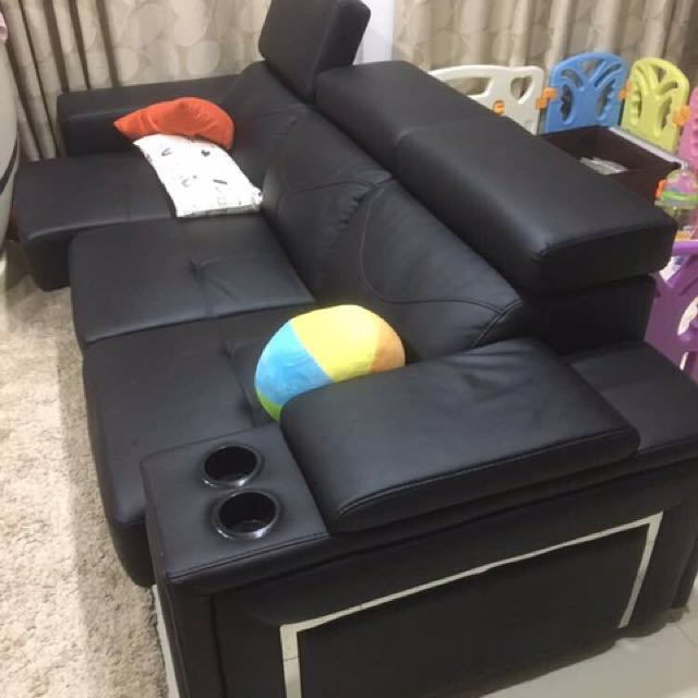 Sofa 3 Seats With Leg Extender Home
