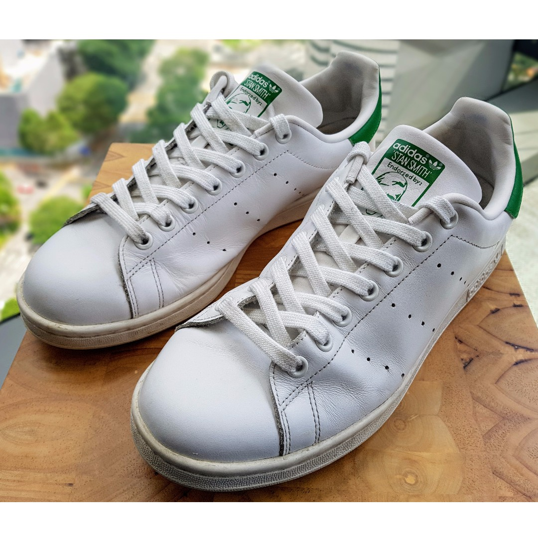 info for 703df c64af Stan Smith Shoes (White/Green, US size 10.5), Men's Fashion ...