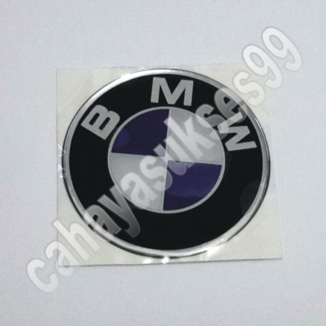 Sticker Mobil Timbul Tutup Velg BMW Biru Bulat 7cm Stiker Emblem Plastic Resin Tebal Decals Striping Reflective Harga Satuan