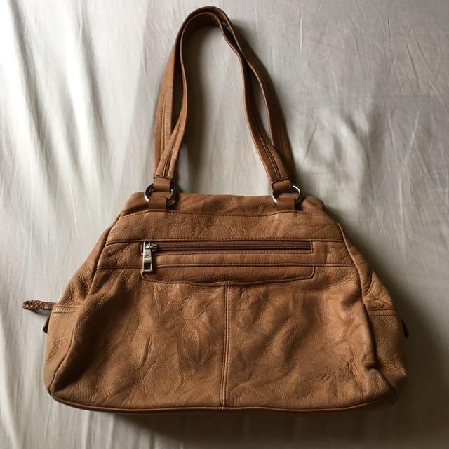 Stone Mountain genuine leather tote