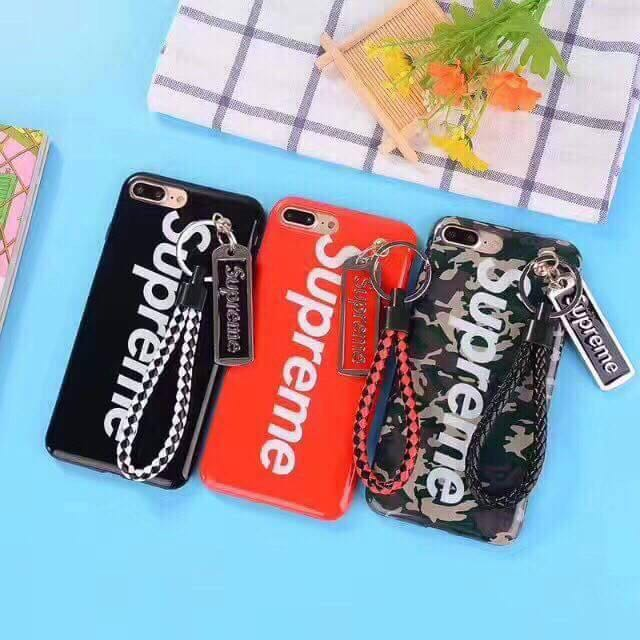 Supreme Phone Case with Rope Strap for iPhone Only