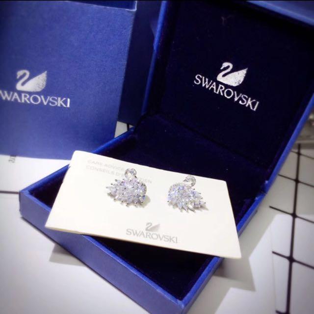 Swarovski Swan Earrings