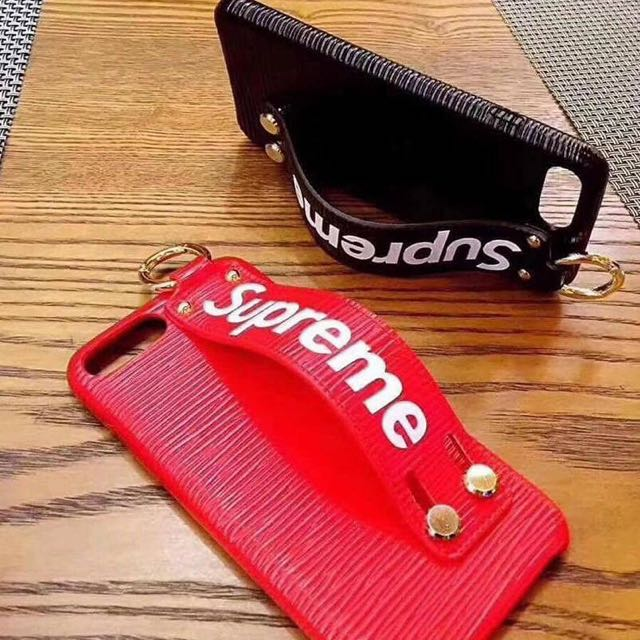 Textured Supreme Case with Grip Strap for iPhones Only