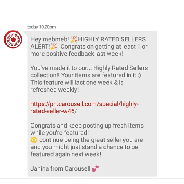 Thank you Carousell! 😊 November 2017