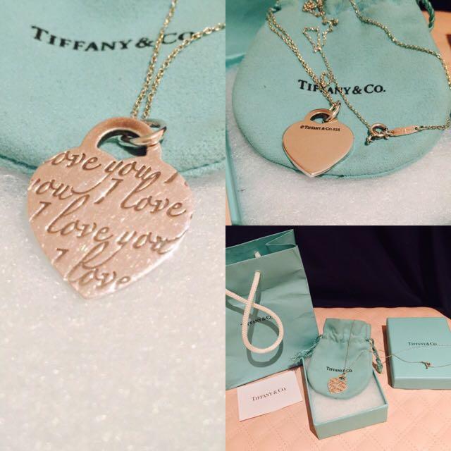 Tiffany Notes I Love You Pendant