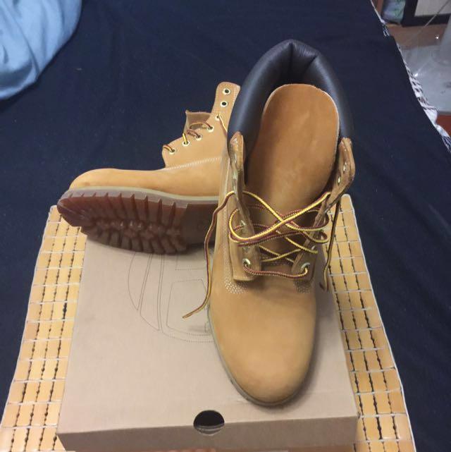 Timberland 黃靴 #10061 US8.5