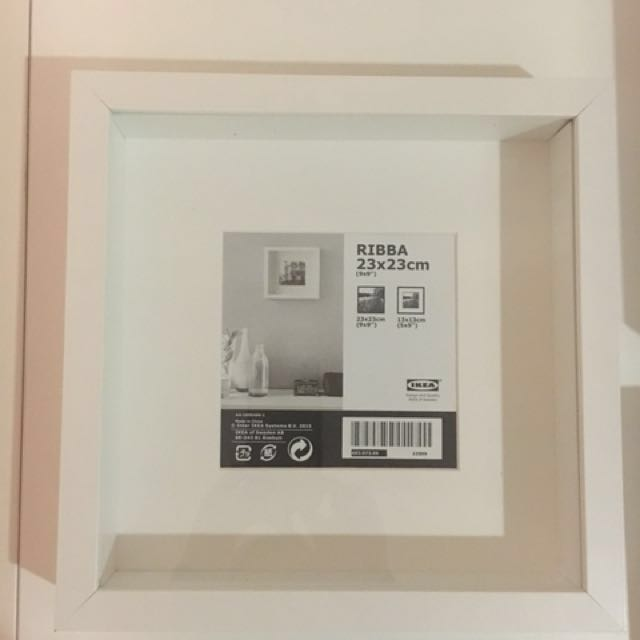 Total of 9 IKEA Ribba Photo Frames 23X23 and 13X18