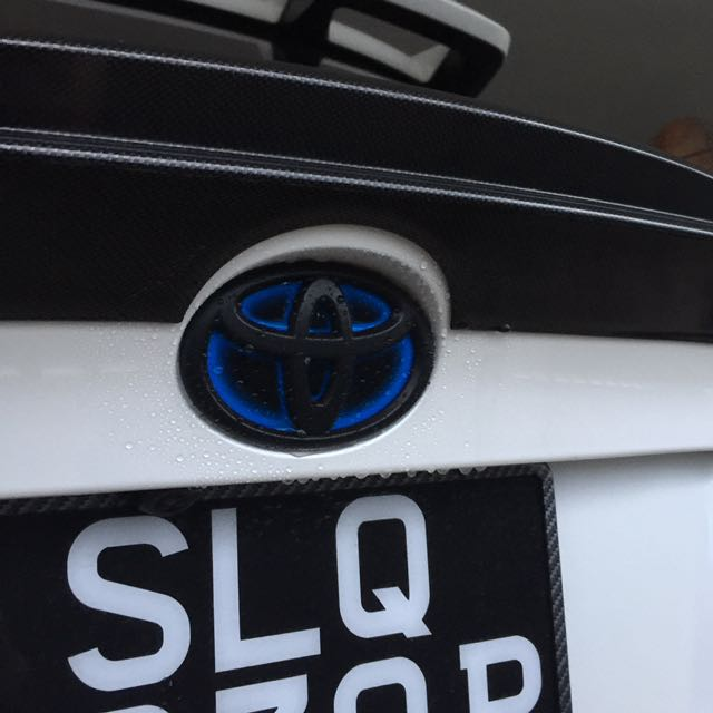 Toyota C-HR plasti dip black logo services, Car Accessories on Carousell