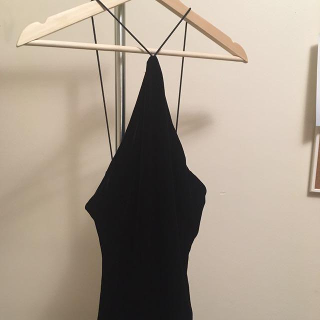 Velour Dress with SLIT