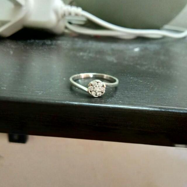 White Gold Diamond Ring 375 Tomei