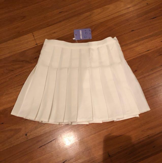 White Tennis Skirt BNWT