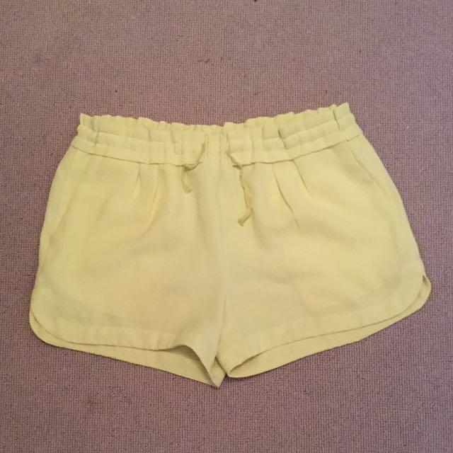 Witchery yellow shorts
