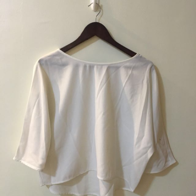 WOMAN - White Sheer Top