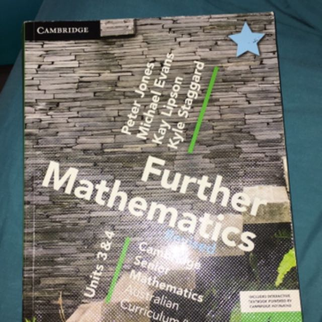 Year 12 unit 3&4 further Mathematics text book