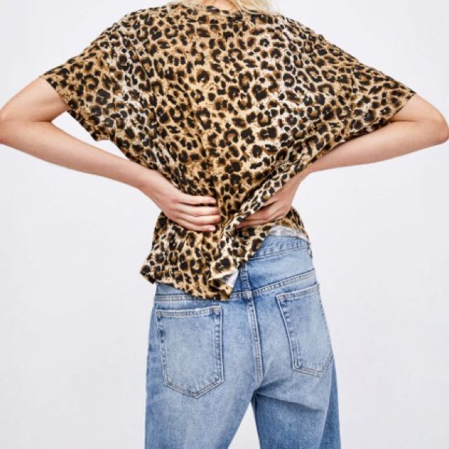 Zara Leopard Printed Shirt