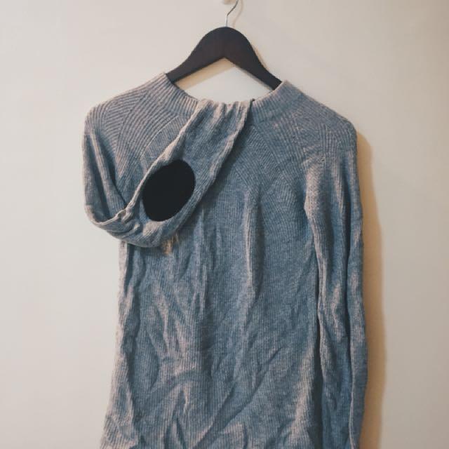 ZARA Turtleneck Sweater with Elbow Patch