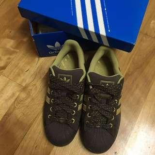 🚚 二手 Adidas Superstar 咖啡 巧克力色 麂皮 女款 運動鞋