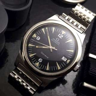 FOR SALE-  36mm Omega Mens Vintage Diver Styled Wristwatch