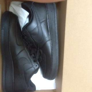 Black Nike Air Force Ones (Size 11)