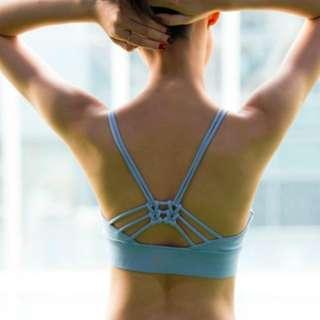 Triple knot Sports Bra in sky blue
