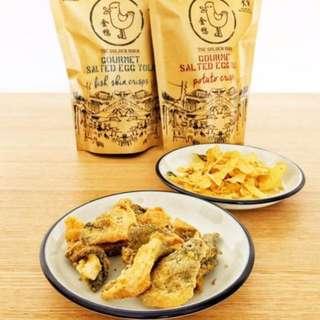 🔥新加坡 Golden Duck 咸蛋薯片、魚皮