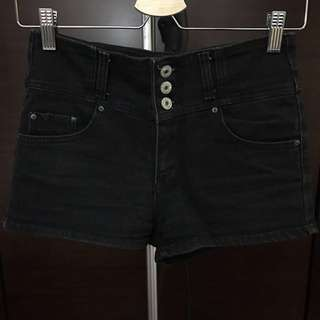 🚚 百搭 黑色高腰短褲