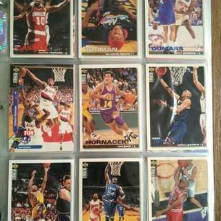 NBA Upper deck & topp trading cards