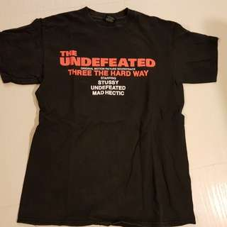 Undefeated x stussy x mad hectic triple threat t-shirt tee (undftd)