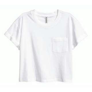 H&M white crop tee