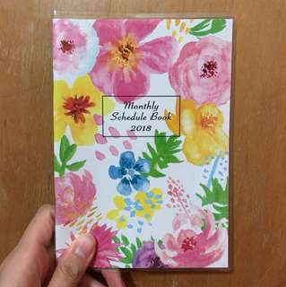 Watercolor floral 2018 B6 schedule book planner diary journal agenda