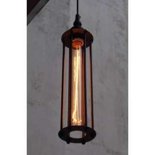 Vintage Black Cage Pendant Ceiling Light Bar NEW