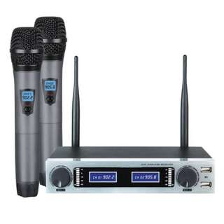 Wireless UHF Dual Channel Handheld Microphones