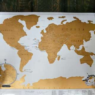 Brand New Scratch Map, Travel Edition