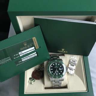 Rolex 勞力士  116610lv 綠水鬼 submariner綠圈綠面