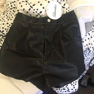 Brand New Faux Leather Shorts