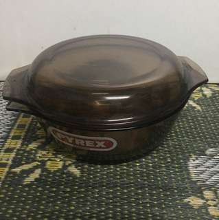 Pyrex visions clear amber brown