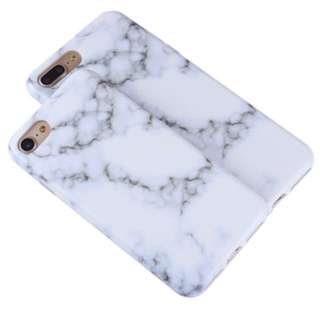 White marble matte iPhone 7 or 8 phone case