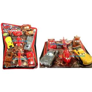 CARS LIGHTNING MCQUEEN TOY FIGURES ( set of 6 )