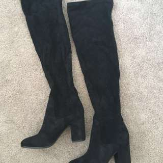 Wittner Ebony Over The Knee Boots Sz 38
