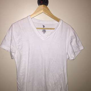 White Polo V-neck