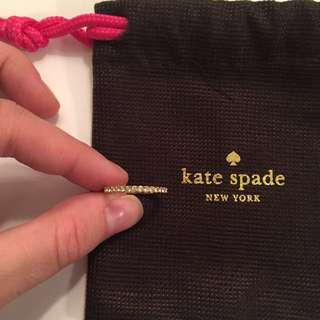 Kate Spade gold crystal ring