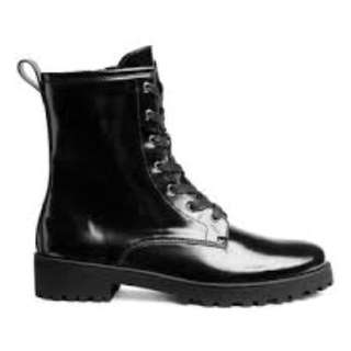 Black Boots, size 38, worn once