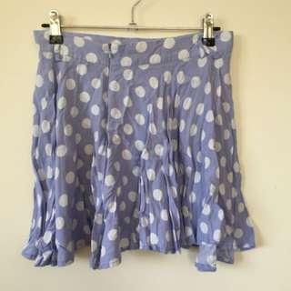 Lilac Polka dot Skirt