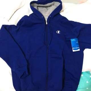 🚚 Champion刺繡藍色外套