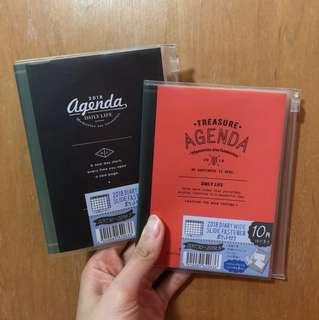 Roadtrip Side zipper Wide A6 2018 schedule book planner diary agenda journal