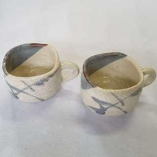 Coffee mugs 2 glasses