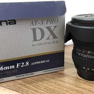 Tokina AT-X pro DX 11-16mm F2.8 for Nikon(一代鏡)