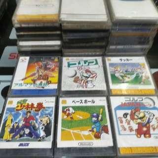Nintendo Famicom Disk system games fds