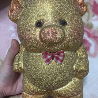 Piggy bank gold color