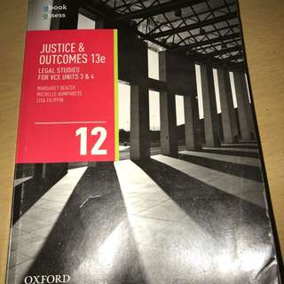 OXFORD LEGAL STUDIES VCE UNIT 3&4 TEXTBOOK